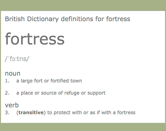 A Mighty Fortress/Definition of Fortress
