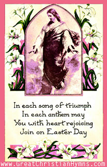 Easter Hymns - Happy Easter Card